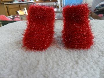 Vente au détail: chaussons bébé tricoter main 0/3 mois