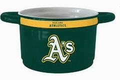 Liquidation/Wholesale Lot: Licensed MLB St. Oakland Athletics Ceramic Game Time Chili Bowl