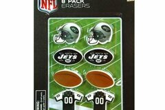 Liquidation/Wholesale Lot: NFL Licensed 8-Pack New York Jets Erasers