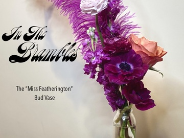 For Sale: Floral Feather Bud Vases