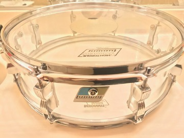 "Selling with online payment: Ludwig-Vistalite 15"" x 4"" Clear Acrylic Snare Drum"