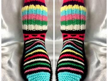 Vente au détail: Grande chaussette multicolore