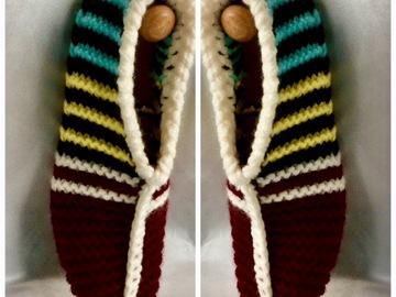 Vente au détail: Chaussons en tricot