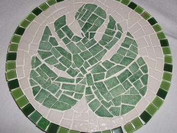 """Vente au détail: Dessous de Plat """"Philodendron"""" en mosaïque"""