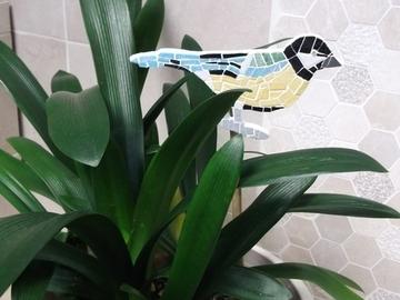 """Vente au détail: Tuteur Décoratif pour plantes d'intérieur """"MESANGE"""" en mosaïque"""