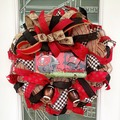 Selling with online payment: Bucs Football Wreath