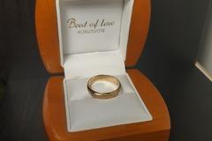 Ilmoitus: Beat of Love kultasormus 4 mm koko 18,5