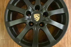 "Selling: Porsche 5x130 17"" et53 matte black new Pirelli a/s"