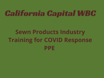 Announcement: SEWN PRODUCTS INDUSTRY TRAINING: MANUFACTURING PROGRAM FOR COVID