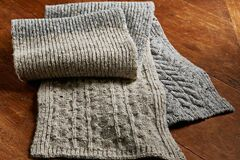 Liquidation/Wholesale Lot: Grey Color Blocked Scarf