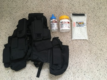 Selling: Tactical Vest and BBs