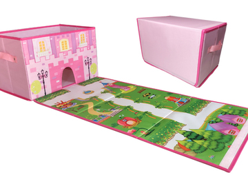 Products: EMBRACE PLAY Toy storage box with play mat - Toy box for girls -