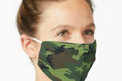 Liquidation/Wholesale Lot: Camouflage Fashion Face Masks, Non-Medical, Washable, Reusable, A
