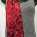 Selling with online payment: Hand Dyed Silk and Rayon Scarf in Reds
