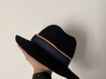 Online payment: Blue fedora Hat, Atelier Theodore - 57 cm