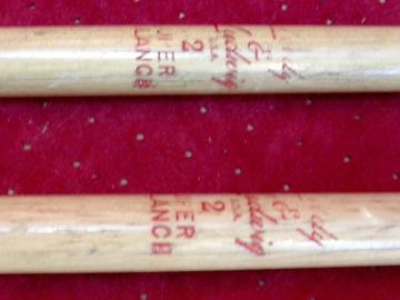 Selling with online payment: 1950s LEEDY & LUDWIG model 2 Super Balance Drumsticks