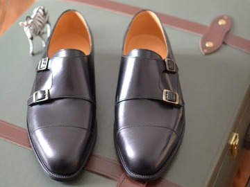 Selling with online payment: J.M. WESTON double monk (9 UK) NEW!