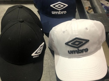 Liquidación / Lote Mayorista: 5 Authentic Umbro All Sport  Hats Caps