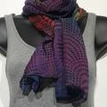 Selling with online payment: Hand Dyed Silk and Rayon Scarf Dots Pattern