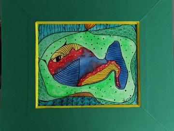 Vente au détail: Tableau poisson coloré