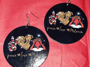 For Sale: Peace love and Melanin Earrings
