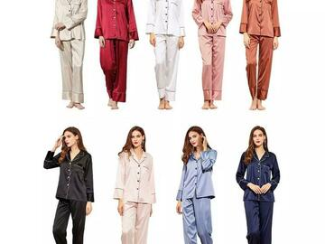For Sale: Women silk Satin pyjamas set, Long sleeve and pants
