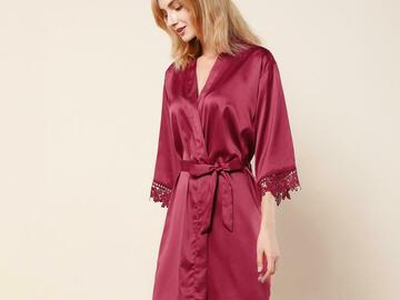 For Sale: Silk satin Robe; Bath Robe, Dressing Gown, Bridal, Pyjamas party.