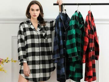 For Sale: Classic cotton plaid Sleepshirt,  Nightdress Bridesmaids, matchin