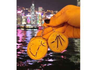 : Zodiac constellation key chain