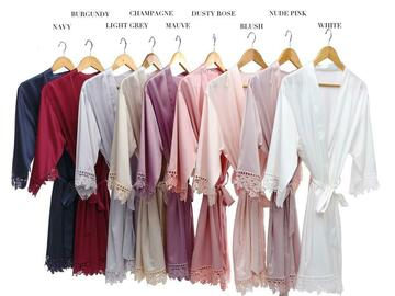 For Sale: Bridesmaids Silk Robes  Birthday party ( can be personalise)