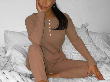 For Sale: Brown Cotton pyjamas/ Loungewear det