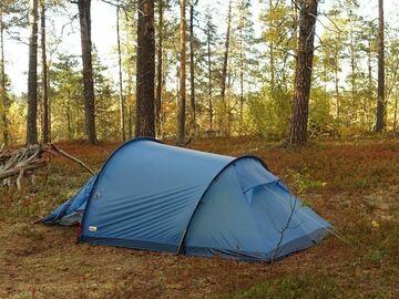 Til leie (per natt): Fjällräven Abisko Lite 3, kevyt kolmen hengen teltta
