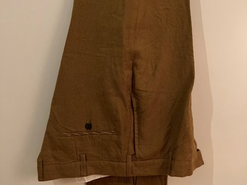 Online payment: NWT: Spier & Mackay UK36 Slim Cigar / Copper Linen Trousers