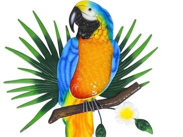 Selling with online payment: Exotic Metal Parrot Wall Decor