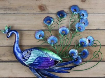 Selling with online payment: Majestic Metal Peacock Wall Decor