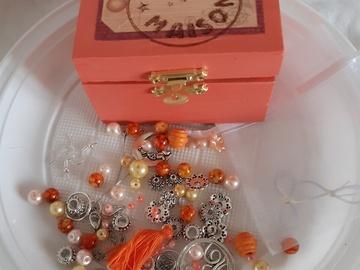 Vente au détail: Coffret diy bijoux orange