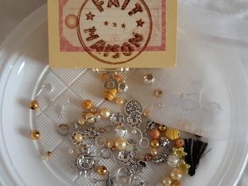 Vente au détail: Coffret diy bijoux jaune