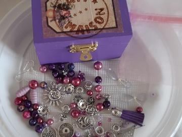 Vente au détail: Coffret diy bijoux violet