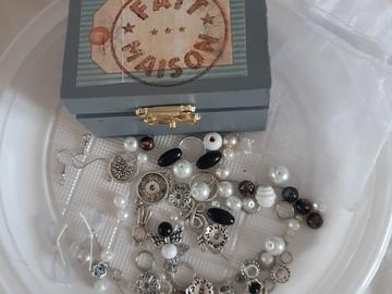 Sale retail: Coffret diy bijoux gris