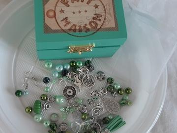 Sale retail: Coffret diy bijoux vert