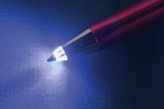Liquidation/Wholesale Lot: Terranova Triple Function Light-Up LED Pull Cap Metal Ballpoint