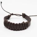 Liquidation/Wholesale Lot: Dozen Mens Faux Leather Bracelets B2072