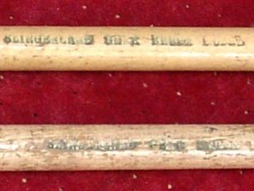 Selling with online payment: Vintage SLINGERLAND Gene Krupa model pair of drumsticks