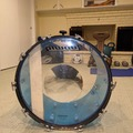 """Selling with online payment: Pre1980's Ludwig 22"""" Classic Blue Vistalite Base Drum Blue & Oliv"""