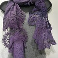 Selling with online payment: Hand Dyed Vintage Crochet in Lavenders
