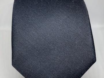 Online payment: Solid navy Duchamp London 100% pure silk tie, Made in England