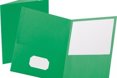 Liquidation/Wholesale Lot: Ampad – Leatherette Embossed 2-Pocket Folder – Green