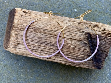 Selling: Lilac hoop earrings