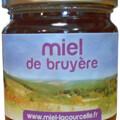 Vente avec paiement en ligne: Miel de bruyère BIO - pot de 250g