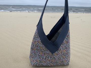: Yvonne bag summer tweed and flower